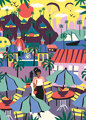 Travel illustrations Pacific Alliance